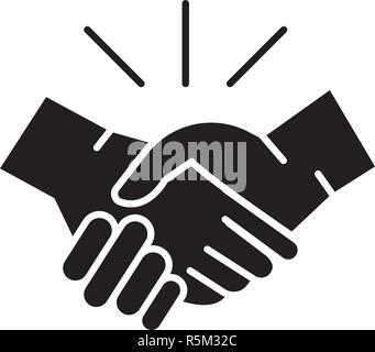 Arrangement black icon, vector sign on isolated background. Arrangement concept symbol, illustration  - Stock Photo