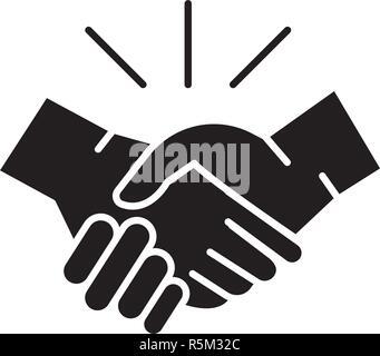 Arrangement black icon, vector sign on isolated background. Arrangement concept symbol, illustration