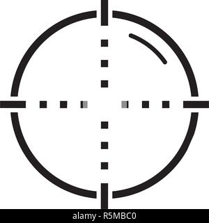 Target black icon, vector sign on isolated background. Target concept symbol, illustration  - Stock Photo