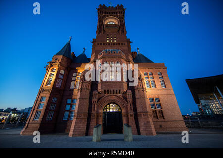 The Pierhead Building for National Assembly for Wales in Cardiff Bay - Stock Photo