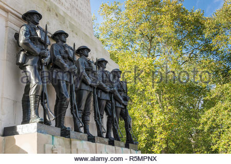 The Guards Memorial in London - Stock Photo