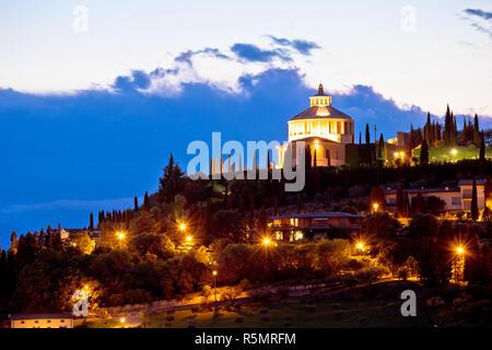 Madonna di Lourdes sanctuary in Verona evening view - Stock Photo