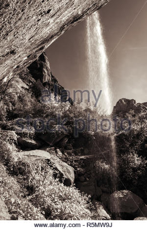 Waterfall in Zion National Park - Stock Photo