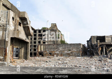 Hashima Island of Japan - Stock Photo