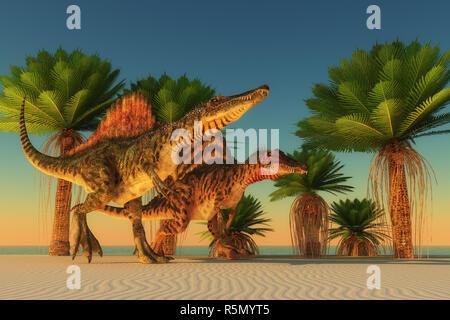 Spinosaurus Walking - Stock Photo