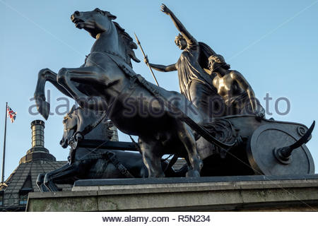 Bronze Sculpture by Thomas Thornycroft Commemorating Boudicca - Stock Photo
