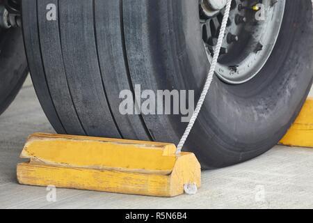 Landing Gear Closeup - Stock Photo