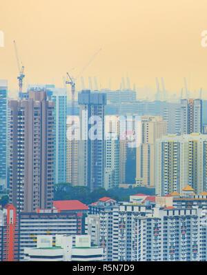 Singapore development in progress - Stock Photo