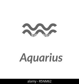 The Water-Bearer aquarius sing. Star constellation vector element. Age of aquarius constellation zodiac symbol on light background. - Stock Photo