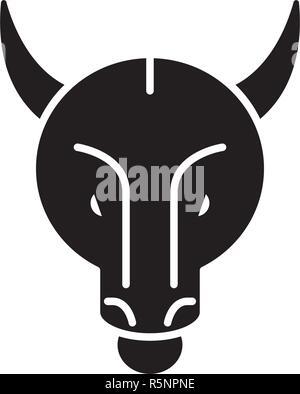 Bullish trend black icon, vector sign on isolated background. Bullish trend concept symbol, illustration  - Stock Photo