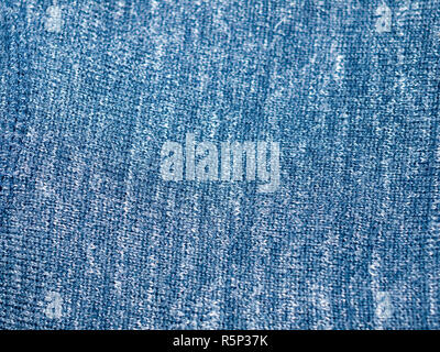 close up blue cloth fabric texture background - Stock Photo