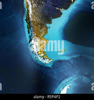 Patagonia, South America, Andes 3d rendering - Stock Photo