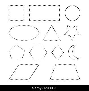 geometric shapes vector symbol icon design. - Stock Photo