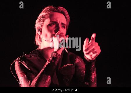 Milano, Italy. 17th Nov, 2018. MØ, stage name of Karen Marie Aagaard Ørsted Andersen in concert at the Fabrique in Milan. Credit: Pamela Rovaris/Pacific Press/Alamy Live News - Stock Photo