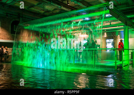 DUBLIN, IRELAND - MARCH 17, 2017 - Guinness storehouse brewery in Dublin, Ireland. Showcasing different stages of making the Guinness beer. - Stock Photo