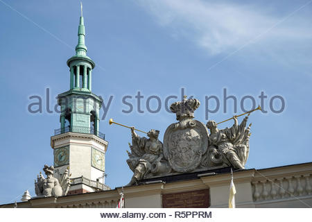 Coat of arms on the Guardhouse in Poznan - Stock Photo