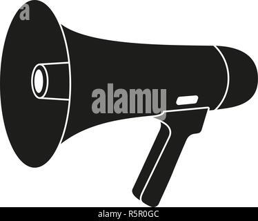 Black and white megaphone silhouette - Stock Photo