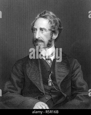 EDWARD BULWER-LYTTON (1803-1873) English politician,novelist and playwright - Stock Photo