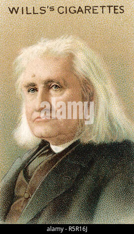 FRANZ LISZT (1811-1886) Hungarian composer on a British cigarette card - Stock Photo