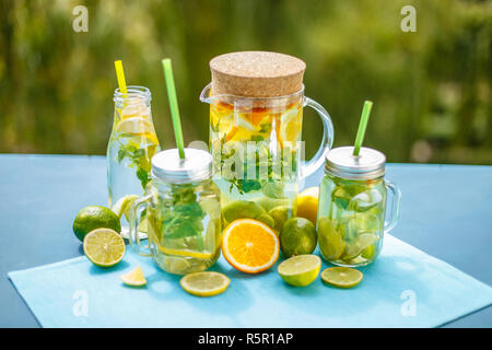 Composition of water detox - Stock Photo