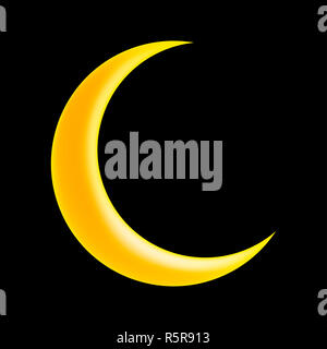 crescent moon vector symbol icon design. - Stock Photo