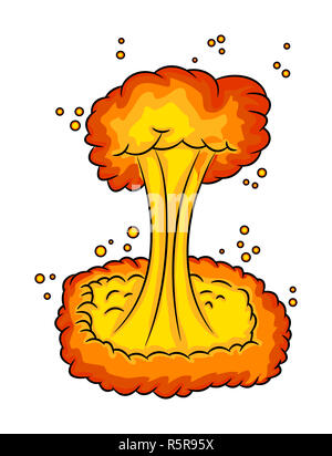 mushroom cloud, nuclear explosion,  vector symbol icon design. - Stock Photo