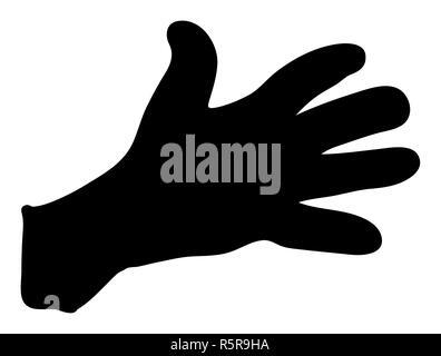 hand gesture silhouette vector symbol icon design. - Stock Photo