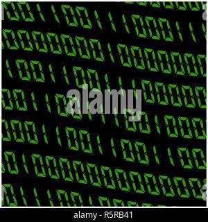 0,1 digits vector wallpaper. Green Binary code on black background. Digital matrix abstract technology illustration. - Stock Photo