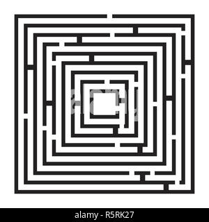 square maze, labirynth vector symbol icon design. - Stock Photo