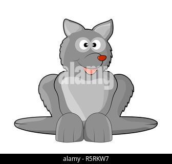 cute wolf vector symbol icon design. Beautiful illustration isolated on white background - Stock Photo