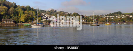 Dittisham village, on the west bank of the river Dart in Devon. - Stock Photo