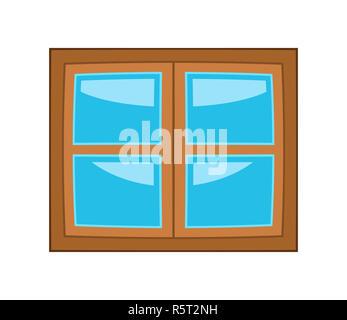 Window cartoon vector symbol icon design. - Stock Photo