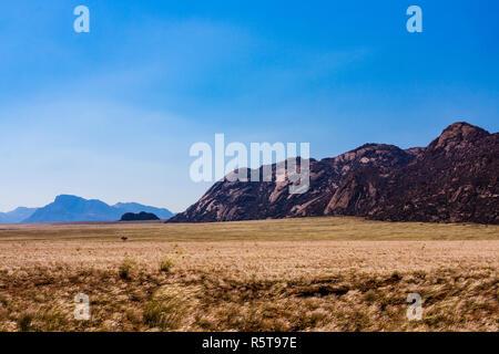 namibia d707 mountain landscape sky - Stock Photo