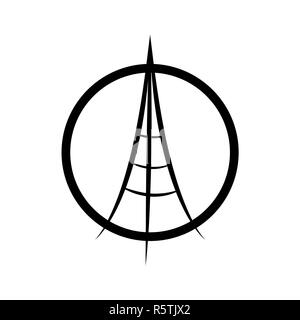 praying hands and Eiffel Tower. Avector illustration isolated on white background. Peace for Paris, Pray for Paris and France. Pray for killed victims. - Stock Photo