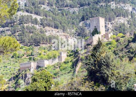 Yedra castle in Cazorla, Jaen, Spain - Stock Photo
