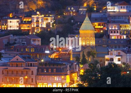 Old Town at night, Tbilisi, Georgia. - Stock Photo