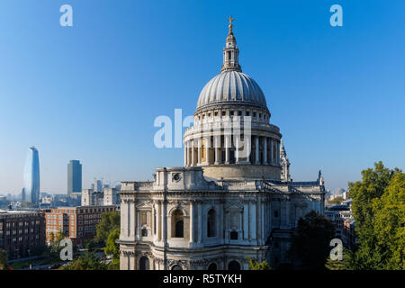 St. Paul's Cathedral in London England United Kingdom UK - Stock Photo