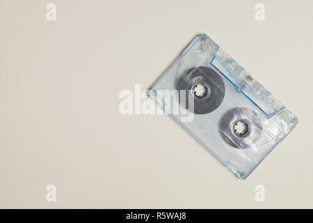 Retro cassette tape on white background - Stock Photo