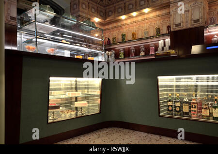 Bar Luce at Fondazione Prada, designed by director Wes Anderson. Milano,2018 - Stock Photo