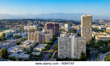 LOS ANGELES, CALIFORNIA/USA - JULY 28 : Skyscrapers in the Financial district of Los Angeles California on July 28, 2011 - Stock Photo