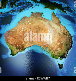 Australia space 3d rendering - Stock Photo