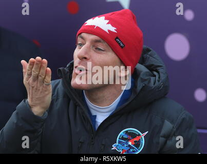 Kazakhstan. 03rd Dec, 2018. KAZAKHSTAN - DECEMBER 3, 2018: Canadian Space Agency (CSA) astronaut David Saint-Jacques before a launch to the International Space Station. The launch of Expedition 58/59 aboard the Soyuz MS-11 spacecraft to the ISS is scheduled for December 3, 2018 at 14:31 Moscow time. Valery Sharifulin/TASS Credit: ITAR-TASS News Agency/Alamy Live News - Stock Photo