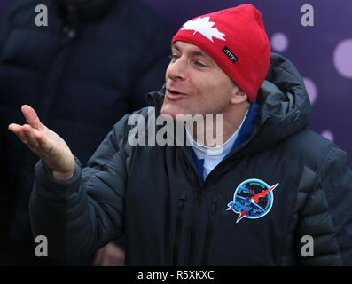 Kazakhstan. 03rd Dec, 2018. KAZAKHSTAN - DECEMBER 3, 2018: Canadian Space Agency (CSA) astronaut David Saint-Jacques before a launch to the International Space Station. The launch of Expedition 58/59 aboard the Soyuz MS-11 spacecraft to the ISS is scheduled for December 3, 2018 at 14:31 Moscow time. Sergei Savostyanov/TASS Credit: ITAR-TASS News Agency/Alamy Live News - Stock Photo