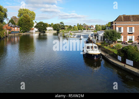 The River Thames in Marlow, Buckinghamshire, England United Kingdom UK - Stock Photo