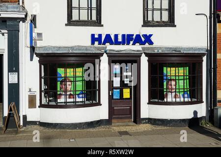 Halifax bank branch in Marlow, Buckinghamshire, England United Kingdom UK - Stock Photo
