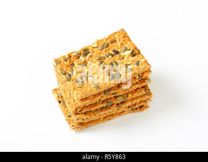 Pumpkin seed cheddar crackers - Stock Photo