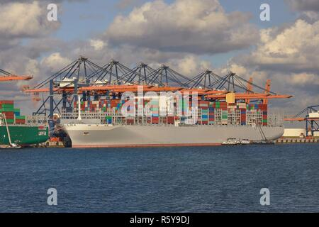 Huge Container Ship - Stock Photo