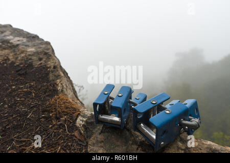 Fog over the mountains and hills of Armenia - Stock Photo