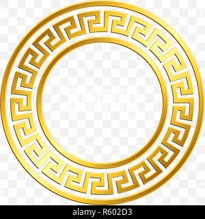 bfa988cf2d19 Round frame with traditional vintage Golden Greek ornament