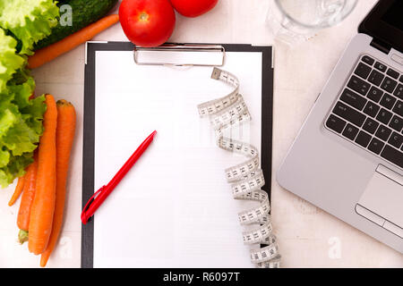 Vegetable diet nutrition and medication concept. Nutritionist offers healthy vegetables diet. - Stock Photo